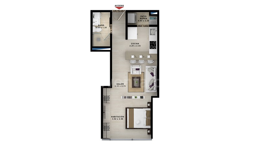 Apartasuite-tipo-4: 404-804-area-construida-39.62-m