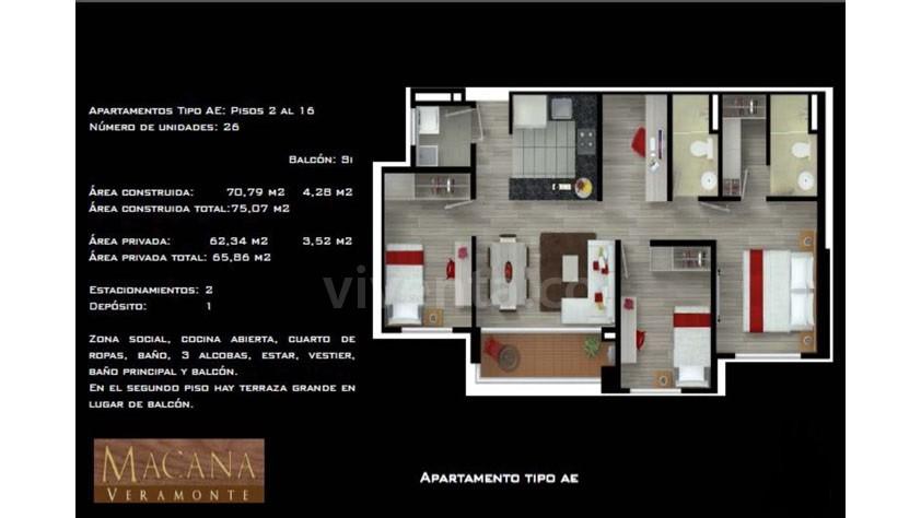 Plano Apartamento Macana